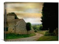 A Small Hamlet - Dundry, Canvas Print
