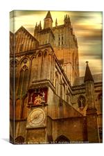 The Wells Cathedral Clock., Canvas Print