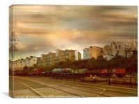 Dockside Train, Canvas Print