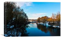 River Taff, Wales, Canvas Print
