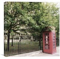 London phone box, Canvas Print
