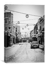 Brighton Snows Black + White 01, Canvas Print