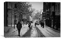 Snowy Brighton Black + White 02, Canvas Print