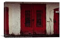 Old Red Door, Canvas Print