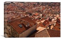 Red Roofs, Canvas Print