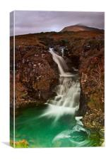 Waterfall at Glen Brittle, Canvas Print