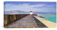 Holyhead Breakwater Lighthouse, Canvas Print