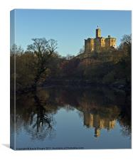 Warkworth Castle Reflection, Canvas Print