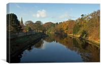 River Coquet Reflection, Canvas Print