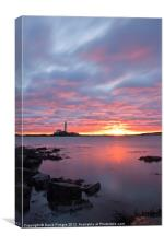 St Marys Lighthouse Sunrise, Canvas Print