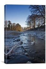 Winter River, Canvas Print