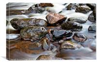 River Breamish Rocks II, Canvas Print