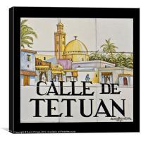 Calle de Tetuan, Canvas Print