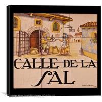 Calle de la Sal, Canvas Print