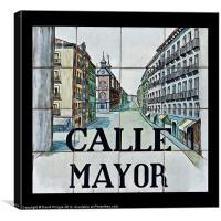 Calle Mayor, Canvas Print