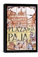 Plaza de la Paja, Canvas Print