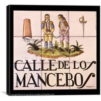 Calle de los Mancebos, Canvas Print