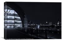 Sage Gateshead at Night, Canvas Print