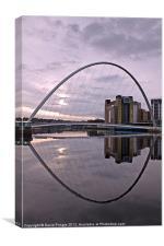 Gateshead Quays Reflection, Canvas Print
