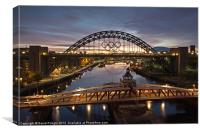 Tyne Bridge Before Sunrise, Canvas Print