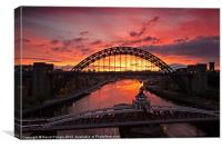 Tyne Bridge at Sunrise III, Canvas Print