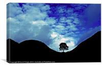 Sycamore Gap Silhouette, Canvas Print