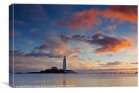 Lighthouse At Sunrise, Canvas Print