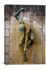 River God Tyne Sculpture II, Canvas Print