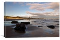 Tynemouth Longsands, Canvas Print