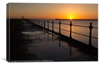 Tynemouth Pier Sunrise, Canvas Print