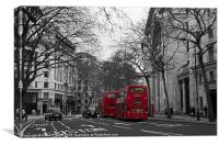 Red London Buses, Canvas Print