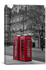 Red Phone Boxes, Canvas Print