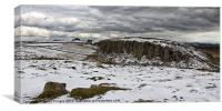 Peel Crags in Winter, Canvas Print