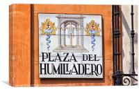 Madrid Street Sign, Canvas Print