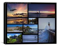 Northumbrian Castles and Coast, Canvas Print