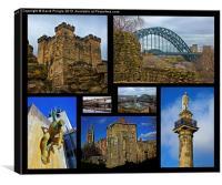 Newcastle Landmarks, Canvas Print