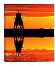 Groyne Lighthouse at Sunrise, Canvas Print