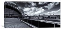 Sage Gateshead and Newcastle Skyline, Canvas Print