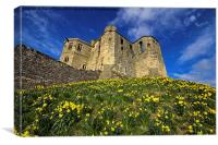 Warkworth Castle in Spring, Canvas Print