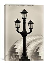 Tyne Bridge Street Lamp, Canvas Print