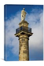 Greys Monument in Newcastle, Canvas Print