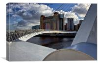BALTIC and Gateshead Millennium Bridge, Canvas Print