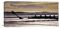 Beach Groynes, Canvas Print