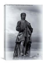 Allan Ramsay Statue, Canvas Print