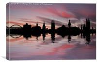 Newcastle Skyline, Canvas Print