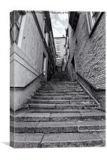 Castle Stairs, Canvas Print