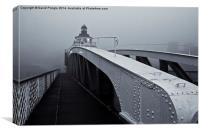 Fog on the Tyne, Canvas Print