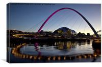Gateshead Millennium Bridge and Sage Gateshead, Canvas Print