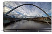 Newcastle Quayside and Sage Gateshead, Canvas Print