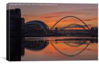 River Tyne Sunset, Canvas Print